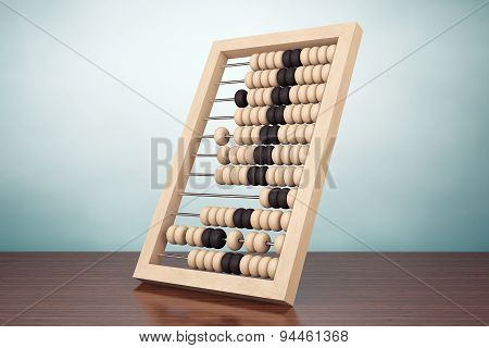 Old Style Photo. Vintage Wooden Abacus