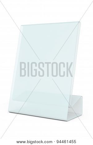 White Blank Transparent Table Plate Card