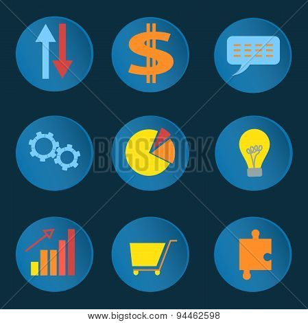 Set informative business icons