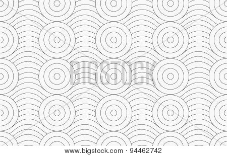 Gray Circles Merging With Continues Lines