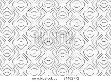 Gray Circles With Wavy Lines Merging