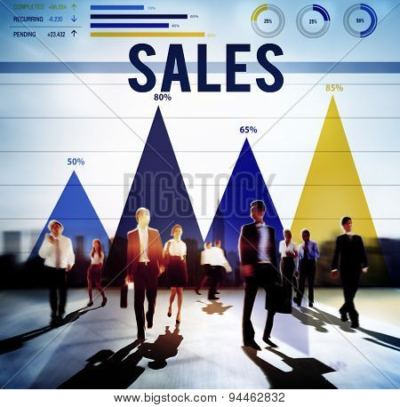 Sales Financial Accounting Banking Economy Concept