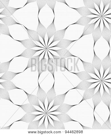Gray Eight Pedal Geometrical Flower