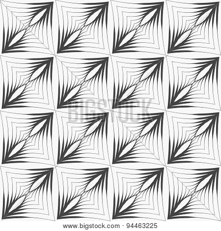 Gray Striped Triangular Shapes With Thickening In Grid