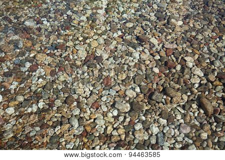 Pebbles Stones Under Water