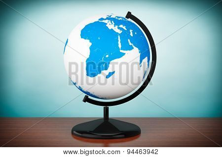 Old Style Photo. World Desktop Globe