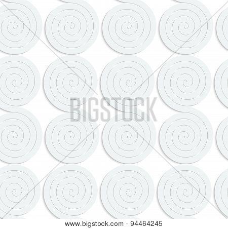 Paper White Solid Merging Spirals