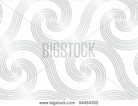 Paper White Striped Spiral Waves Big