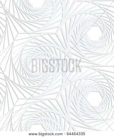 Paper White Striped Swirled Hexagons