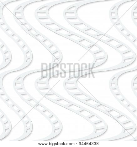 Paper White Striped Uneven Waves