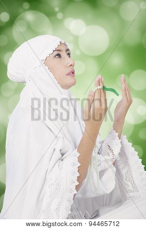 Muslim Lady Worshiping On The God