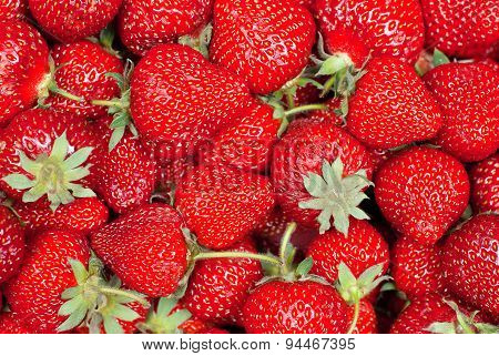 Background Of Strawberry, Top View