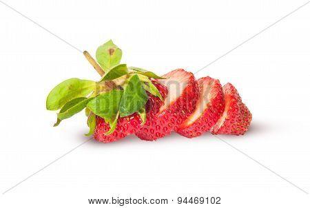 Sliced Fresh Juicy Strawberries