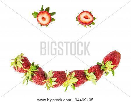 Smile Of Fresh Juicy Strawberries