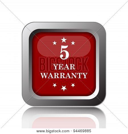 5 Year Warranty Icon