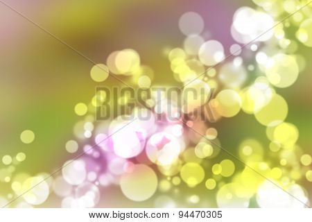 illustration of soft colored abstract background with beautiful glitter twinkling bokeh