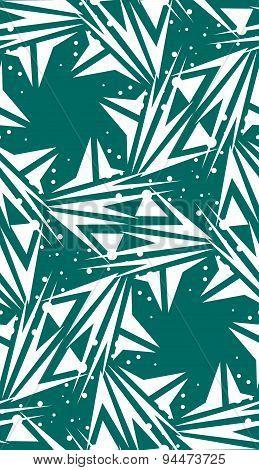 Spinning Green Star Shape Pattern