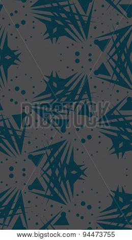 Repeating Blue Dots And Triangle Shapes