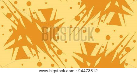Abstract Shattered Yellow Triangular Shapes