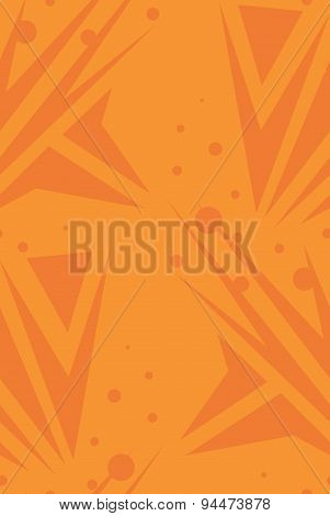 Abstract Orange Seamless Arrows Background