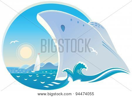 Symbolic vector illustration of dedicated to rest, and travel.
