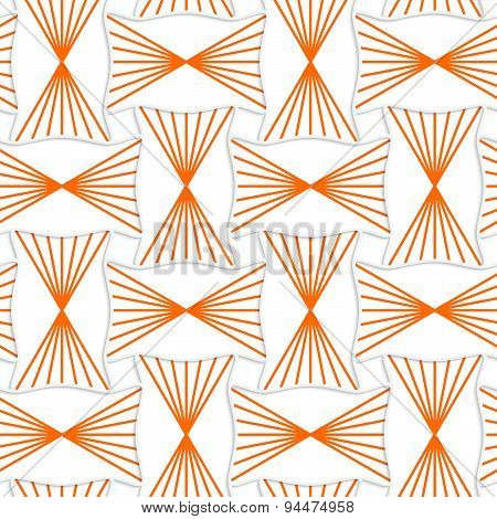 3D Orange Striped Pin Will Rectangles