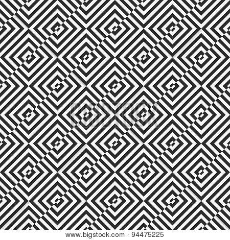 Alternating Black And White Diagonally Cut Squares