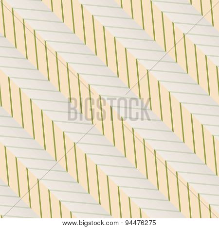 Retro Fold Green Diagonal Striped Zigzag