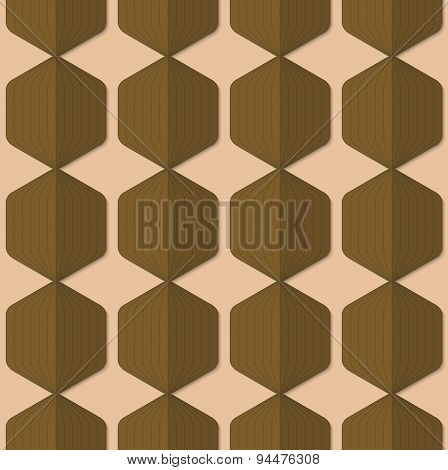 Retro Fold Green Striped Hexagons