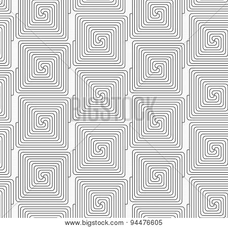 Slim Gray Square Connecting Spirals In Row