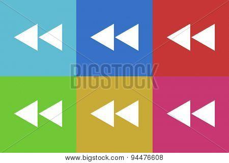 back vector flat web icons set  original modern design for web and mobile app