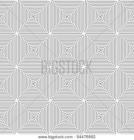 Slim Gray Square Spirals