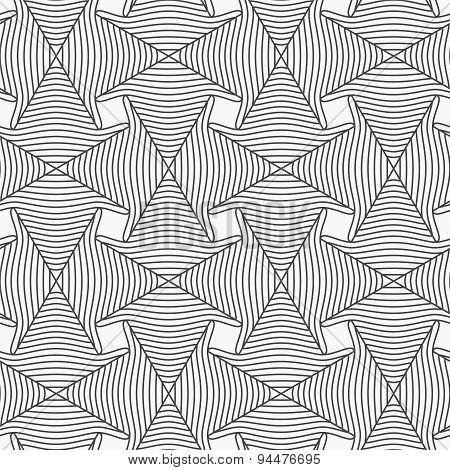Slim Gray Striped Arrows