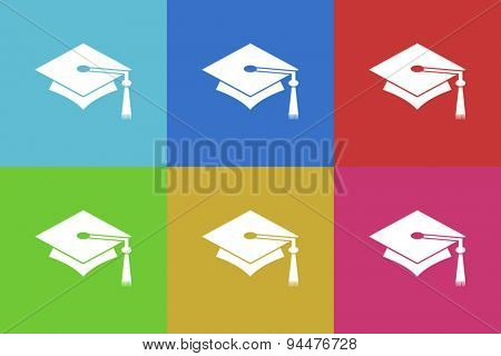education vector flat web icons set  original modern design for web and mobile app