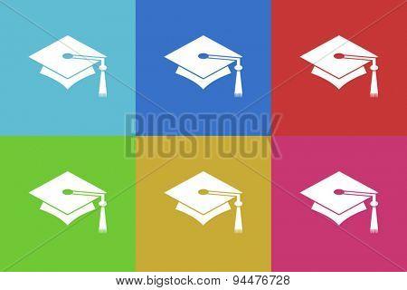 education vector flat web icons set  original modern design for web and mobile app