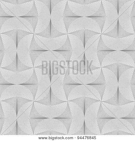 Slim Gray Striped Semi Circles With Neck