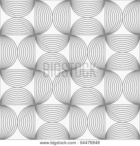 Slim Gray Striped Semi Circles