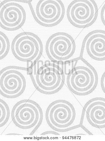 Slim Gray Striped Spirals Three Turn