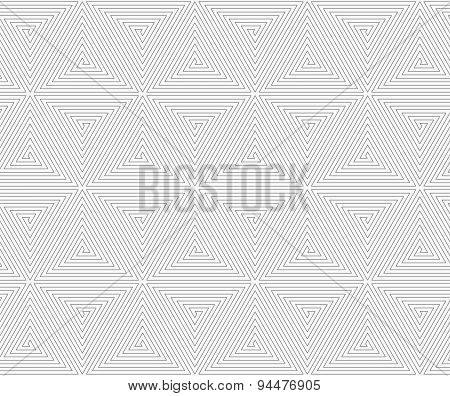Slim Gray Triangle Spirals Forming Cubes