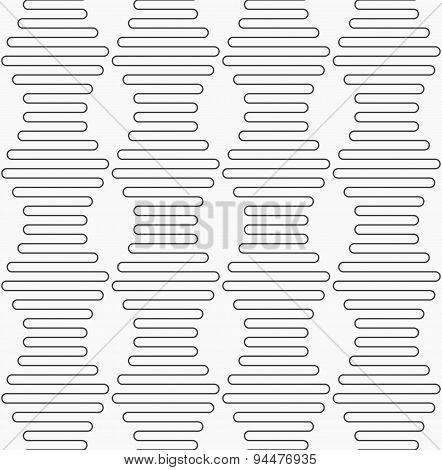 Slim Gray Vertical Hexagonal Waves