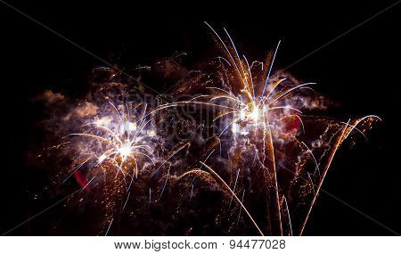 Colorful Fireworks At San Juan Night