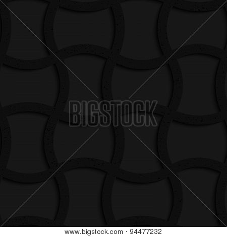 Textured Black Plastic Arched Rectangles Grid