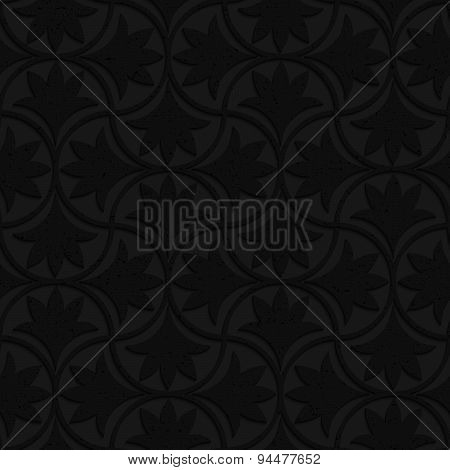 Textured Black Plastic Floral Pin Will