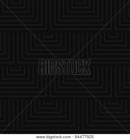 Textured Black Plastic Overlapping Squares