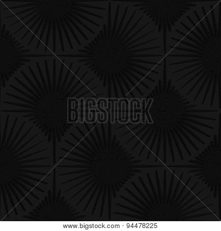 Textured Black Plastic Shapes With Rays