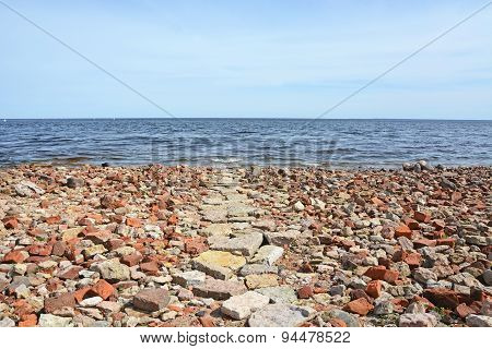 Ladoga Sea Shore Near The Oreshek Fortress