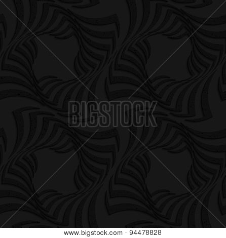 Textured Black Plastic Twisted Big Squares