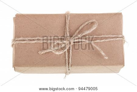 Brown Gift Package Isolated