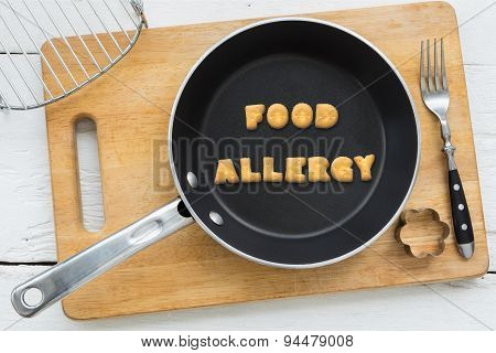 Letter Biscuits Word Food Allergy And Cooking Equipments.