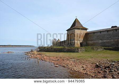 Gosudareva Tower Of The Fortress At Shlisselburg City. Fortress Called Oreshek (nut Fortress)